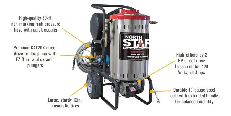 Maquina de vapor para limpieza 2000 PSI